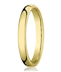 Comfort-fit 18K Yellow Gold Wedding Band with Nouveau-fit Polished Finish – 4.5 mm - MB1193
