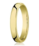 Comfort-fit 14K Yellow Gold Wedding Band with Nouveau-fit Polished Finish – 5.5 mm - MB1033