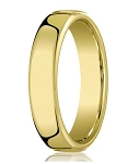 Comfort-fit 18K Yellow Gold Wedding Band with Nouveau-fit Polished Finish – 6.5 mm - MB1197