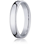 Comfort-fit 14K White Gold Wedding Band with Nouveau-fit Polished Finish – 4.5 mm - MB1037