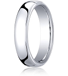 Comfort-fit 18K White Gold Wedding Band with Nouveau-fit Polished Finish – 5.5 mm - MB1194