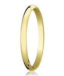 Traditional 14K Yellow Gold Wedding Band with Domed Polished Finish – 2 mm - MB1068