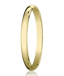 Traditional 14K Yellow Gold Wedding Band with Domed Polished Finish – 3 mm - MB1069