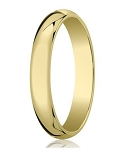 Traditional 14K Yellow Gold Wedding Band with Domed Polished Finish – 5 mm - MB1071