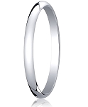 Traditional 14K White Gold Wedding Band with Domed Polished Finish – 2 mm - MB1074