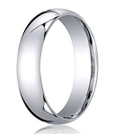 Comfort-Fit Palladium Standard Wedding Band with Polished Domed Finish – 4 mm - MB1163