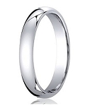 Designer Comfort-Fit Platinum Wedding Band with Polished Finish – 3 mm - MB1171