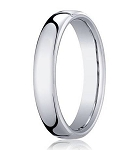 Comfort-fit 18K White Gold Wedding Band with Nouveau-fit Polished Finish – 4.5 mm - MB1192