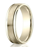 Comfort Fit 18K Yellow Gold Wedding Band with Designer Engraved & Satin Finish – 4 mm - MB1269