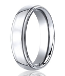 Mens Cobalt Chrome Ring with Polished Finish and Rounded Edges | 5mm - MBCB1001