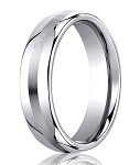 Highly Polished Cobalt Wedding Ring with Satin Center Band | 7.5mm - MBCB1029