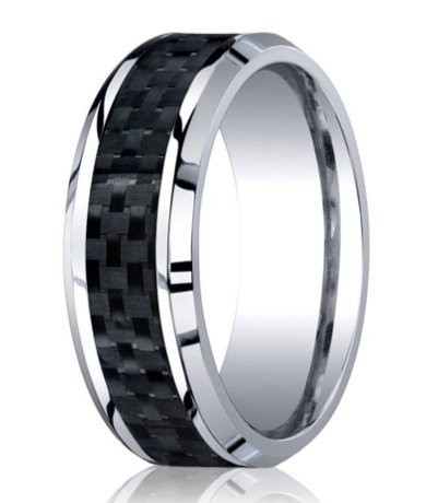 mens designer wedding rings designer cobalt wedding band carbon fiber inlay 5792