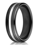 Designer Cobalt Ring with Black Ceramic Band | 7.5mm