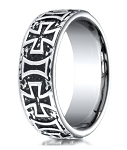 Maltese Cross Men's Designer Cobalt Chrome Wedding Ring | 9mm