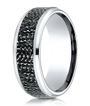 Micro-Hammered Designer Cobalt Chrome Wedding Ring for Men | 9mm