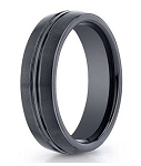 Benchmark Seranite Wedding Band with Polished Groove | 6mm - MBCS1001