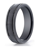 Benchmark Seranite Wedding Band with Satin Finish and Polished Edges | 6mm - MBCS1005