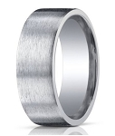 Designer 10 mm Designer Satin Finish Silver Wedding Band - MBS1003