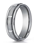 Men's Designer Titanium Wedding Ring with Sectional Design | 6mm - MBT1010