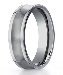 Dual Finish Men's Designer Titanium Wedding Ring | 6mm