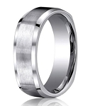 Men's Designer Titanium Wedding Ring with Polished Beveled Edge | 9mm