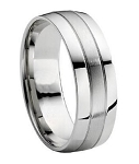 Titanium Brushed Finish Wedding Band - MT0119