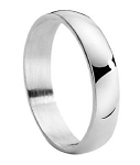 Traditional Titanium Wedding Band for Men with Polished Finish | 4mm