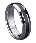 Tungsten Wedding Ring with Carbon Fiber Center Inlay | 6mm