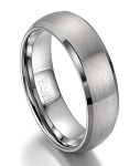 Domed Profile Tungsten Wedding Ring with Brushed Finish | 8mm
