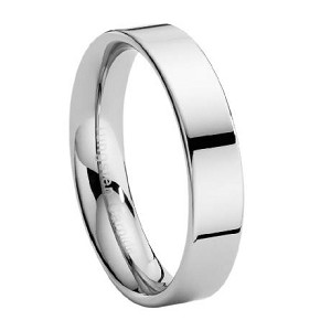 Tungsten Wedding Ring with Flat Profile