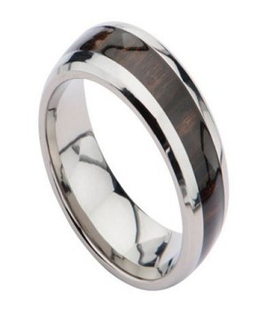 Titanium Wedding Ring for Men with Brazilian Rosewood Center | 8mm