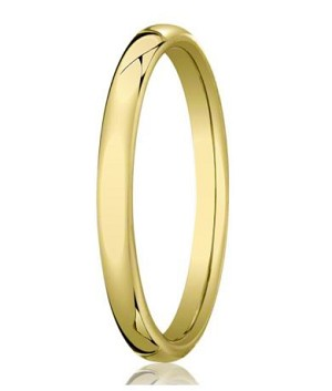 Comfort-fit 18K Yellow Gold Wedding Band with Nouveau-fit Polished Finish – 3.5 mm - MB1190