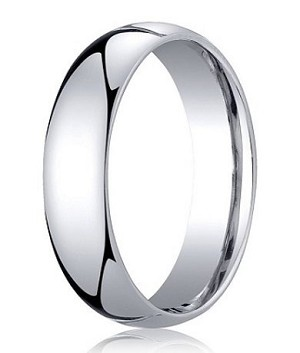 Comfort-Fit Palladium Standard Wedding Band with Polished Domed Finish – 5 mm - MB1164