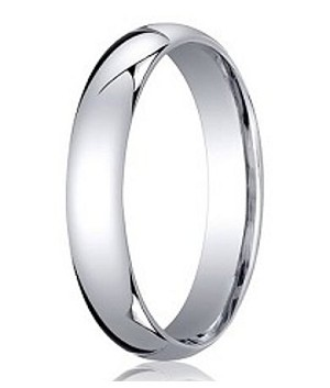 Designer Comfort-Fit Platinum Wedding Band with Polished Finish – 4 mm - MB1172