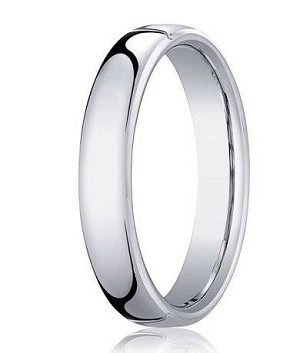 Designer Platinum  Wedding Ring with Satin Finish and Polished Beveled Edges | 6mm - MB0192