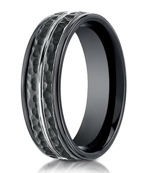 jewelry benchmark no style rings carbide tungsten with fiber carbon center bands ring wedding forge