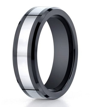 Benchmark Seranite Wedding Ring with Cobalt Chrome Center | 7mm