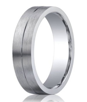 Benchmark Argentium Silver Wedding Band with Satin Finish | 5mm