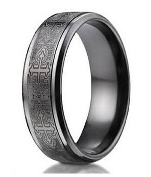 wedding rings black women steel matching pcs czs titanium sets men ring stainless jewellery set his engagement band hers