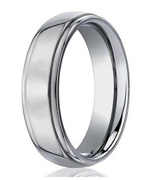 Men's Designer Titanium Wedding Band with Classic Polished Finish | 5mm - MBT1016