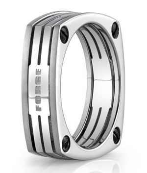Benchmark Titanium Wedding Ring with Four Sided Design | 7.7mm