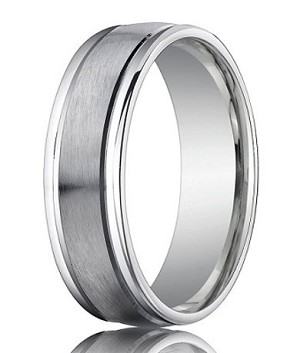 Comfort Fit Palladium Wedding Band With Spun Satin Finish 6 Mm Mb1160